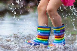Passar pelo intervalo dos pingos da chuva